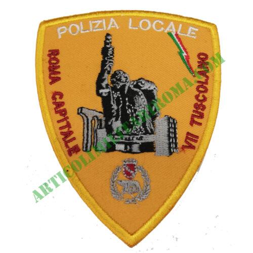 PATCH RICAMATA VII TUSCOLANO POLIZIA LOCALE ROMA